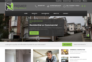 Premier Drywall Services - Website Portfolio